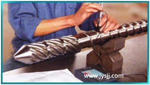 注塑机螺杆表面工艺测式